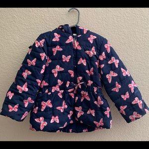 Little Me Girls 4T Butterfly Hooded Puffer Coat